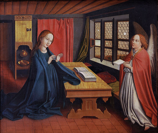 Abb. 13 - Oberrhein. Meister, Verkündigung